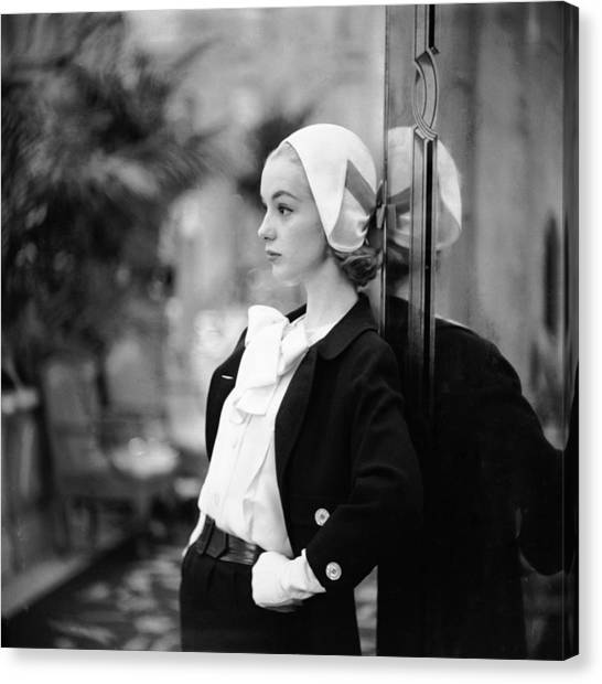 Model In Suit Canvas Print by Gordon Parks