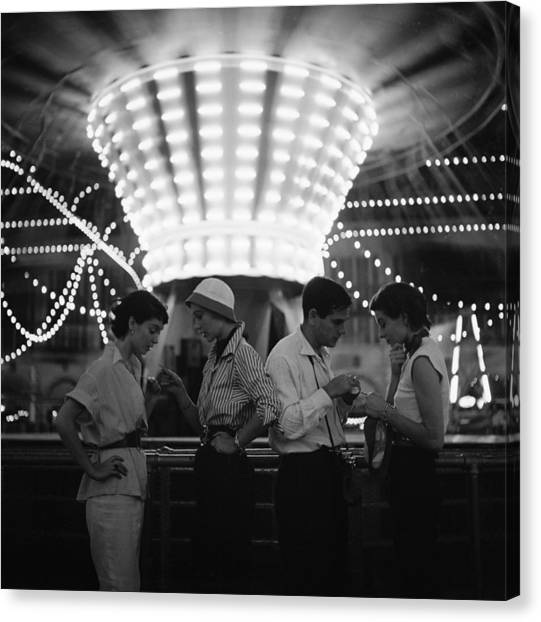 Models At A Carnival Canvas Print