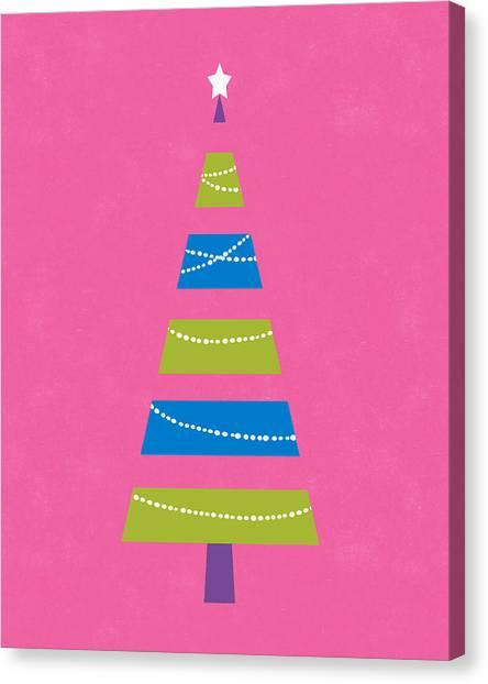 Christmas Tree Canvas Print - Modern Glam Christmas Tree 2- Art By Linda Woods by Linda Woods