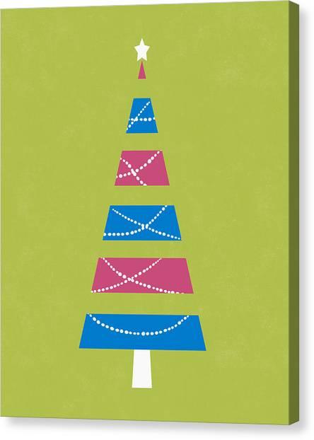 Christmas Tree Canvas Print - Modern Glam Christmas Tree 3- Art By Linda Woods by Linda Woods