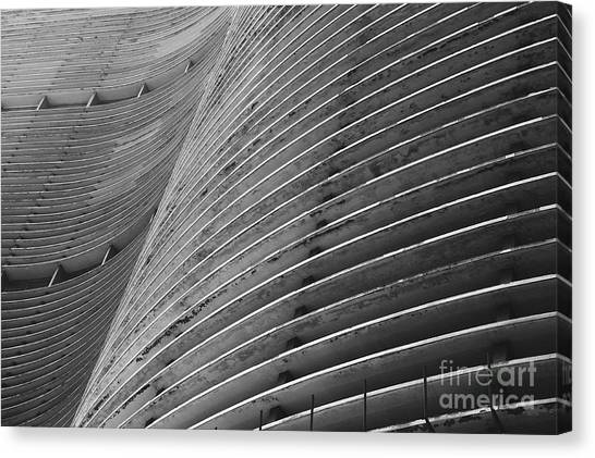 South American Canvas Print - Modernist Brazilian Architecture Curved by Lazyllama