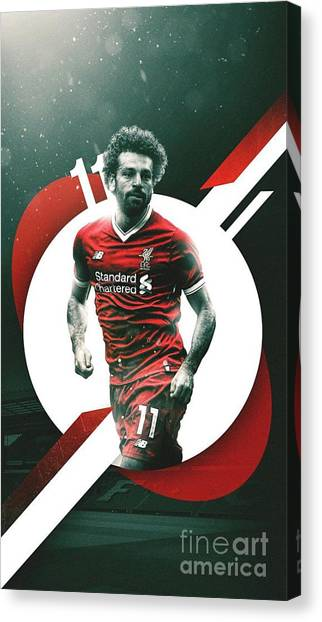 Liverpool Fc Canvas Print - Mohamed Salah by Paul Husen