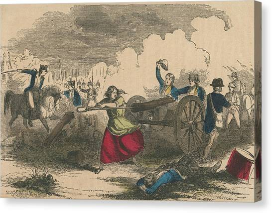 Molly Pitcher Canvas Print by Hulton Archive