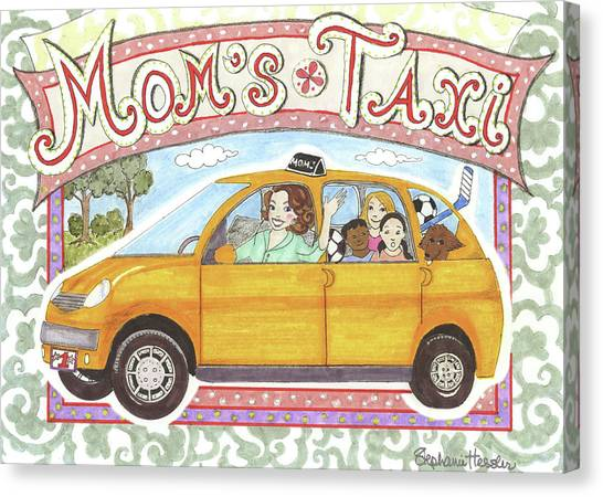 Mom's Taxi Canvas Print