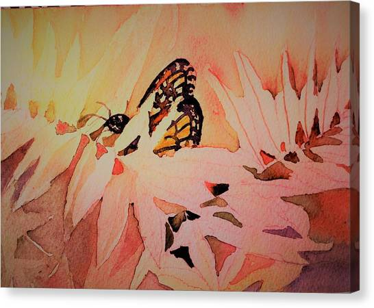 Canvas Print - Monarch In Autumn by Mindy Newman