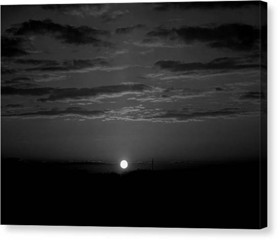Canvas Print featuring the photograph Monochrome Sunrise by Bee-Bee Deigner