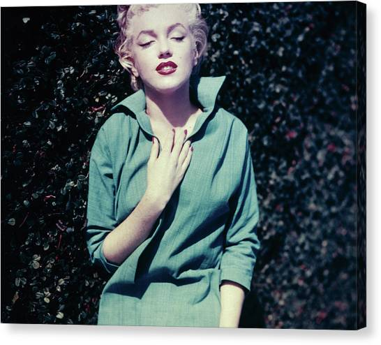 Monroe In Green Canvas Print by Baron
