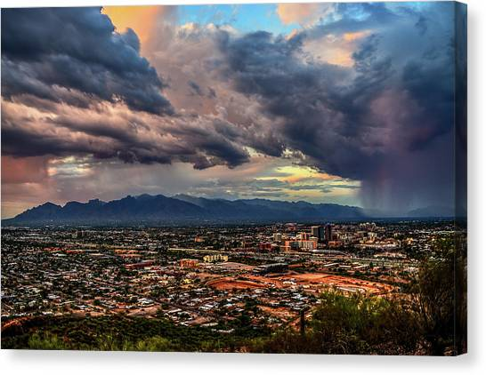 Canvas Print featuring the photograph Monsoon Hits Tucson by Chance Kafka