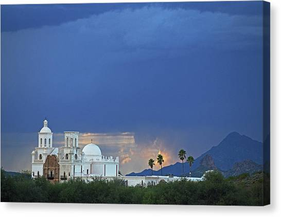Monsoon Skies Over The Mission Canvas Print