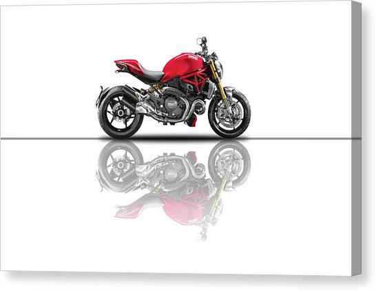 Ducati Canvas Print - Monster 696 by Smart Aviation