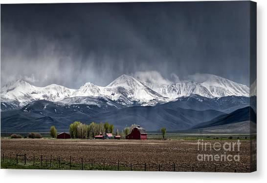 Canvas Print featuring the photograph Montana Homestead by Brad Allen Fine Art