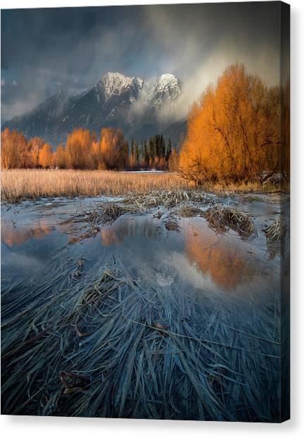 Montana Spring Storm / Bigfork, Montana Canvas Print