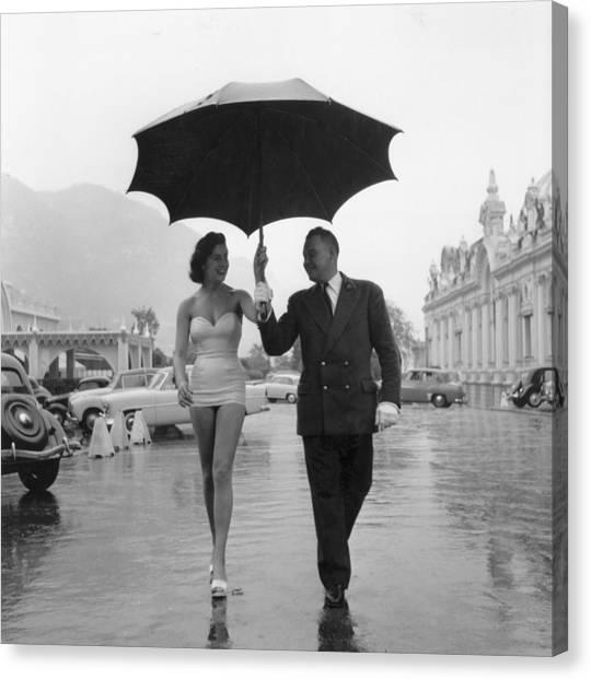 Monte Carlo Rain Canvas Print