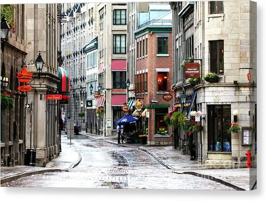 Montreal Street Scene 2010 Canvas Print