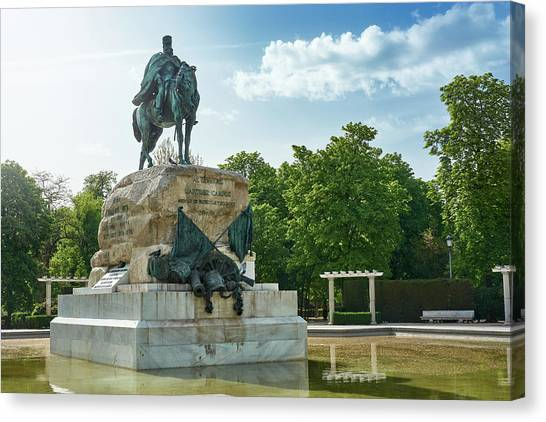 Monument To General Arsenio Martinez Campos In Madrid, Spain Canvas Print