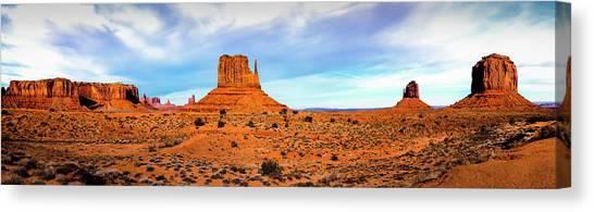 Canvas Print featuring the photograph Monument Valley by David Morefield