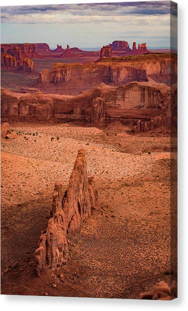 Monument Valley From Hunt's Mesa Canvas Print