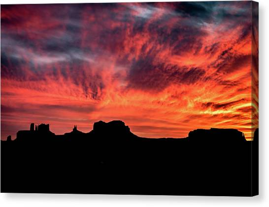 Monument Valley Mile 13 Sunset Canvas Print