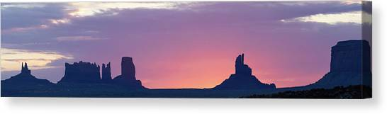 Monument Valley Sunrise Panorama Canvas Print
