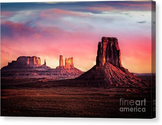 Canvas Print featuring the photograph Monument Valley Sunrise by Scott Kemper