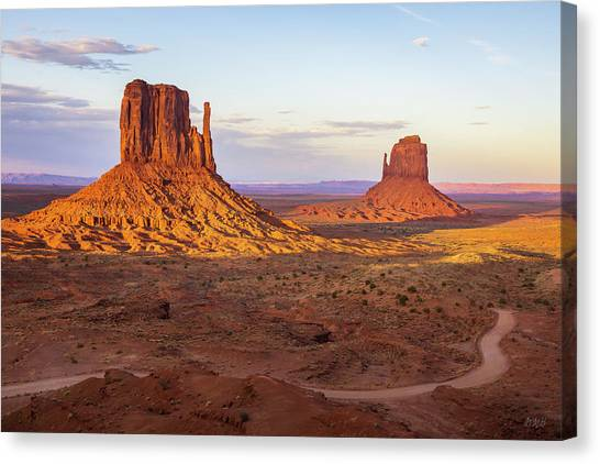 Canvas Print featuring the photograph Monument Valley Xx Color by David Gordon