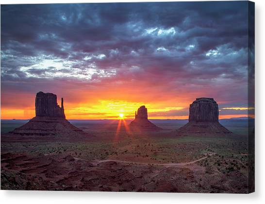 Monumental Morning  Canvas Print