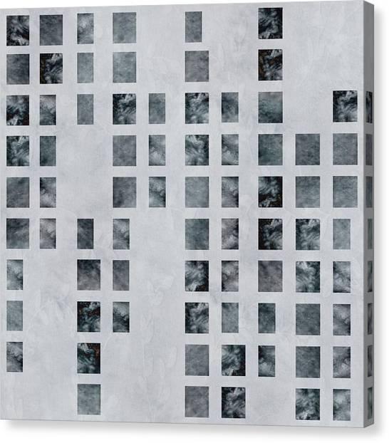 Moody Blues Data Pattern Canvas Print