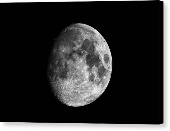 Canvas Print featuring the photograph Moon by Grant Glendinning