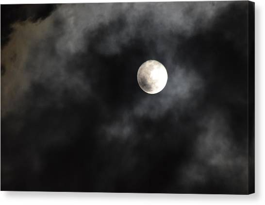 Moon In The Still Of The Night Canvas Print