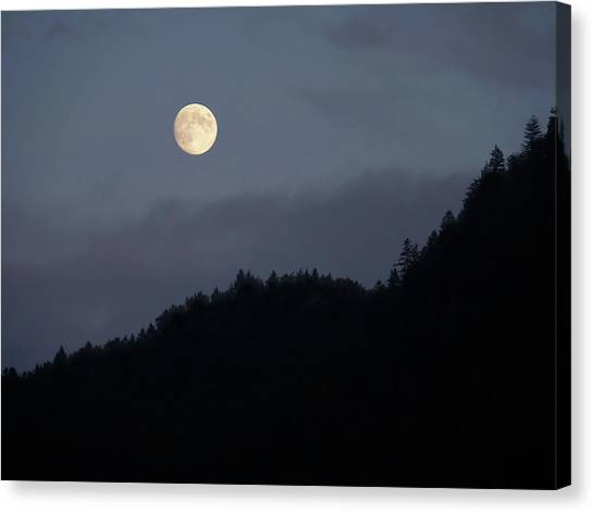 Moon Over Hill Canvas Print