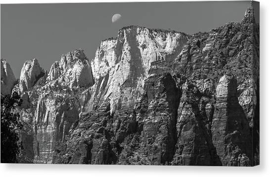 Moon Over Zion Canvas Print by Joseph Smith