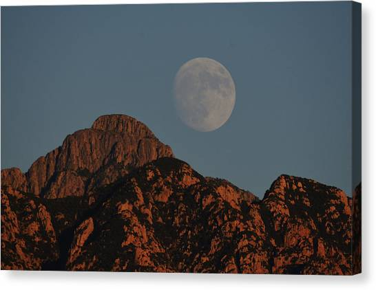 Moon Rise Over Mount Wrightson  Canvas Print