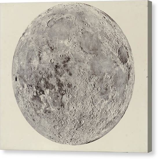 Moon With Craters Canvas Print