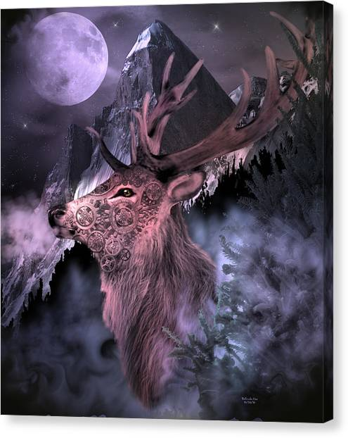 Moonlight Buck Canvas Print