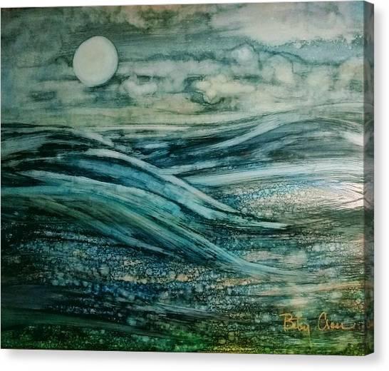 Moonlit Storm Canvas Print