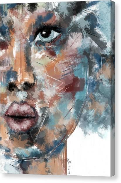 Moonshine-woman Abstract Art Canvas Print