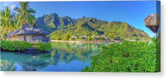 Snorkling Canvas Print - Mo'orea French Polynesia by Scott McGuire