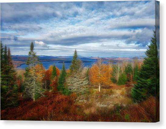Mooselookmeguntic Lake Fall Colors Canvas Print