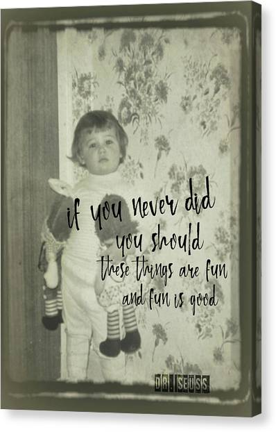 Moppets Quote Canvas Print by JAMART Photography