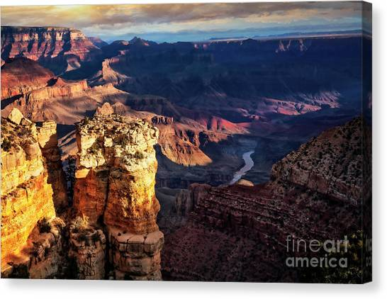 Canvas Print featuring the photograph Moran Point 3 by Scott Kemper
