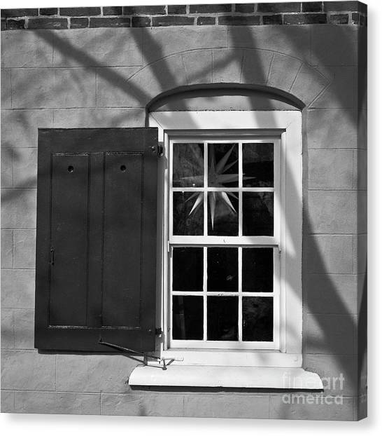 Canvas Print featuring the photograph Moravian Window by Patrick M Lynch
