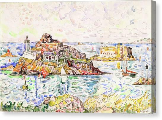 Signac Canvas Print - Morlaix, Entrance Of The River - Digital Remastered Edition by Paul Signac