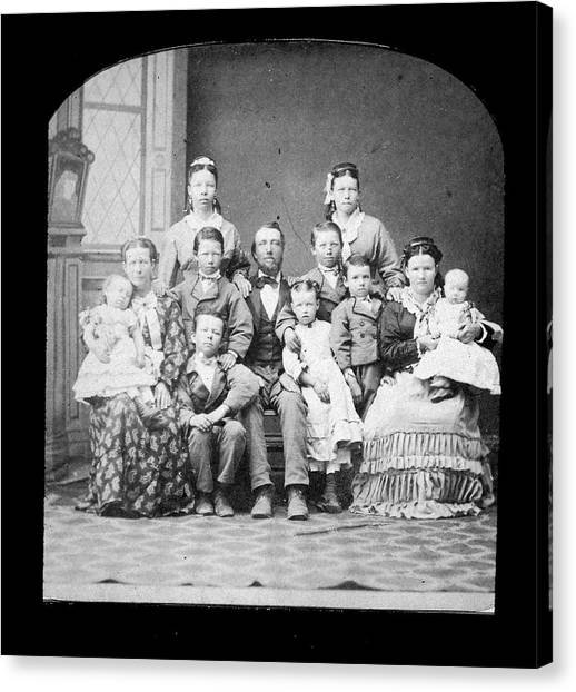 Mormon Family Canvas Print by Kean Collection