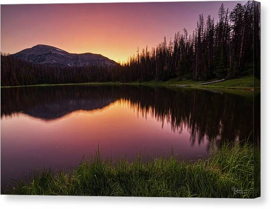 Uinta Canvas Print - Morning Glow by James Zebrack