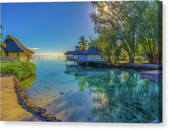 Snorkling Canvas Print - Morning In The South Pacific Ocean by Scott McGuire