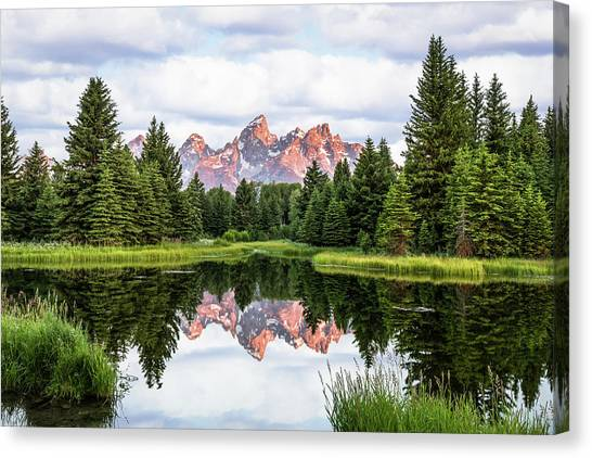 Morning In The Tetons Canvas Print