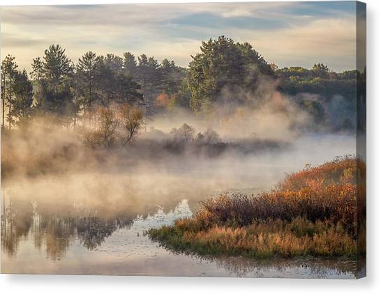 Morning Mist On The Sudbury River Canvas Print