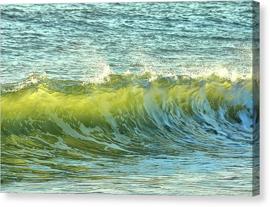 Canvas Print featuring the photograph Morning Ocean Break by JAMART Photography