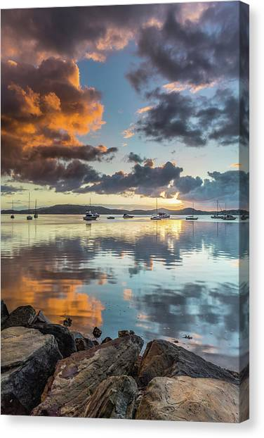 Morning Reflections Waterscape Canvas Print