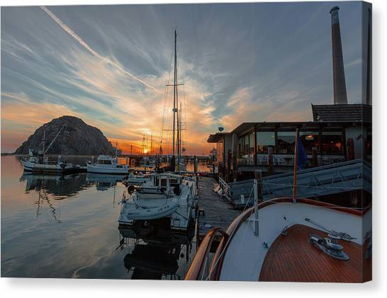 Morro Bay Sunset Canvas Print